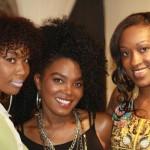 Danielle from Elleina D. Accessories, Wardrobe Stylist Denise, and myself