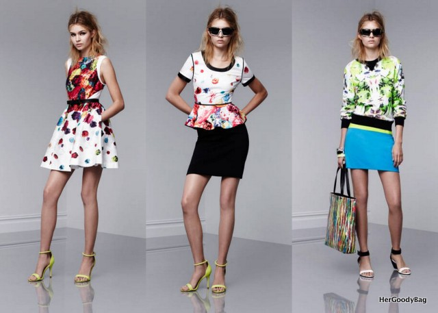 Florals, bright colors, peplum, ladylike dresses, ankle strap shoes