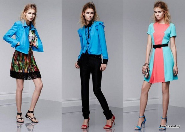 You won't have the blues with these pieces. Loving the motorcycle style jacket.