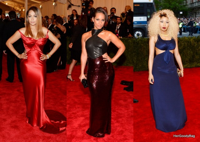 Lala Anthony, alicia Keys, Nicki Minaj Lala was my favorite in this bunch. I loved the sleek look of the Zac Posen dress. Alicia Keys and Nicki Minaj were a little underwhelming.