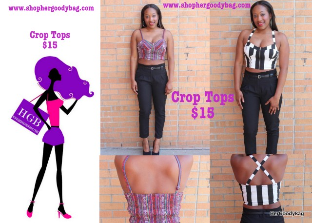 Crop tops are a must this season. So pair these with your favorite maxi or high-waist pants/shorts