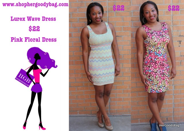 Hit up your favorite parties in the Lurex Dress or open back Pink Floral Dress.