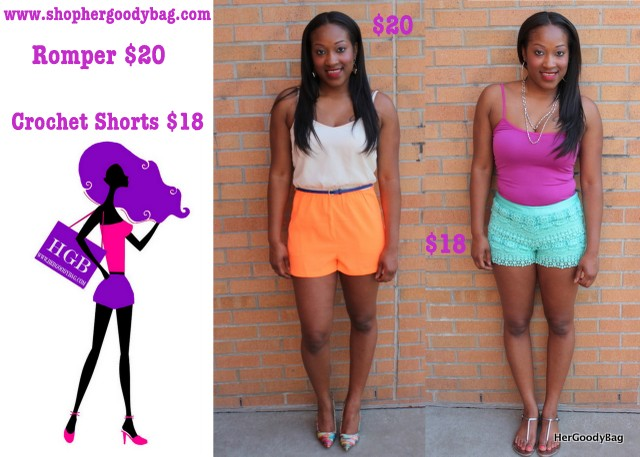 Rompers and shorts now $20 or less! So show off those legs!