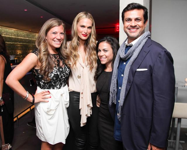 Nola Weinstein (Executive Editorial Director for GLAM), Molly Sims (Model), Bianca Posterli (Editorial Director for GLAM), Samir Arora (GLAM Media's CEO)