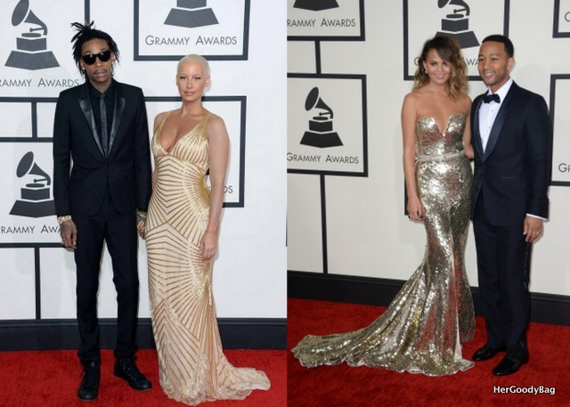 Wiz Khalifa and Amber Rose, and John Legend and wife Chrissy Teigen