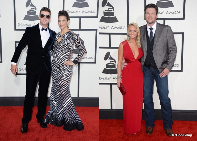 Robin Thicke and Paula Patton and Blake Shelton and Miranda Lambert