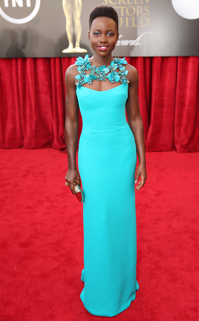 Lupita Nyong'o in Gucci at the 2014 Screen Actors Guild Awards
