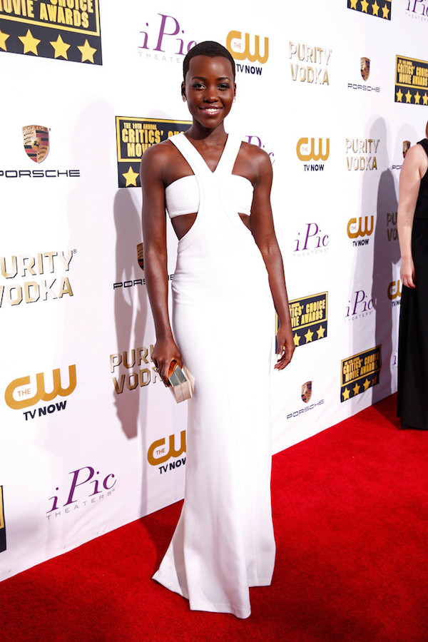 Lupita Nyong'o in Calvin Klein at the 2014 Critics Choice Awards