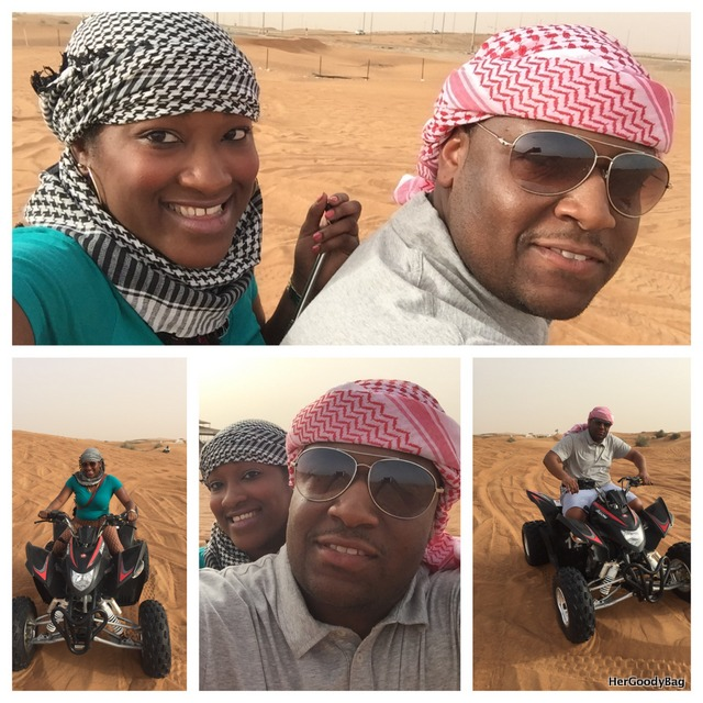 Riding ATVS in the Sharjah Desert